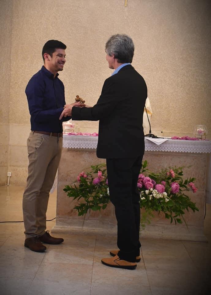 Br. Nayon celebrates perpetual vows.