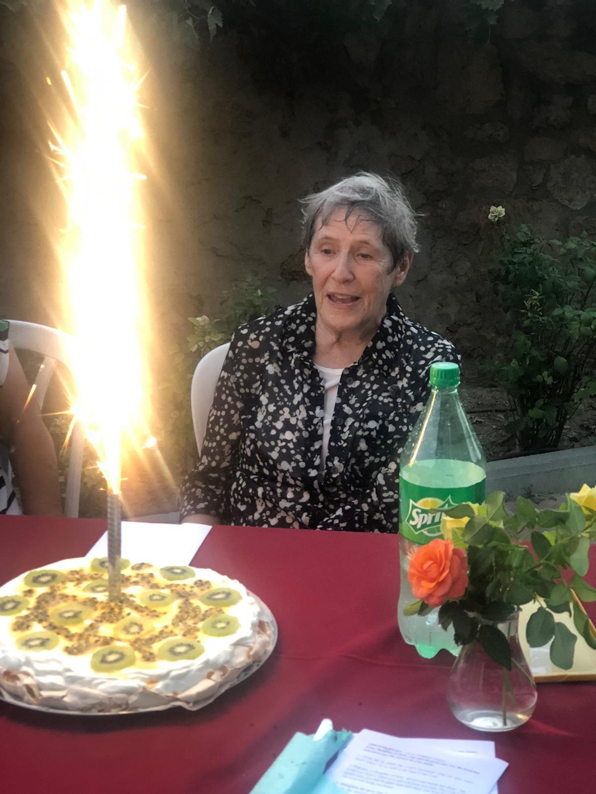 Sr. Rita Kammermayer, nds celebrates Vows' renewal.